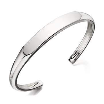 cacf50c66b40 Pulsera de plata de ley 925 maciza para mujer y hombre: Amazon.es ...