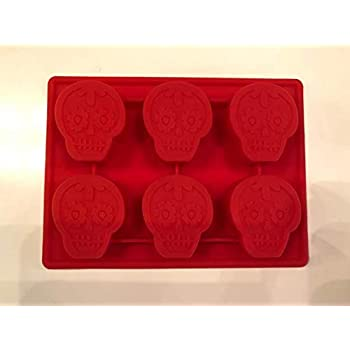 SUGAR SKULL DIA DE LOS MUERTOS HALLOWEEN SILICONE CANDY CHOCOLATE MOLD ICE TRAY