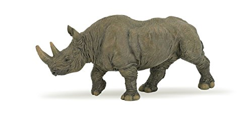 Wooly Rhino - Papo Black Rhinoceros Toy Figure