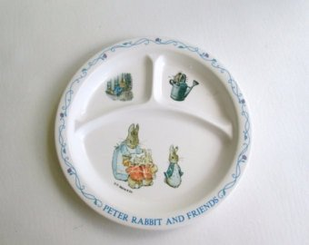 Peter Rabbit and Friends Kids Toddler Divided Plate & Amazon.com | Peter Rabbit and Friends Kids Toddler Divided Plate ...
