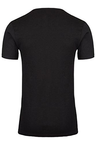 4er Pack Palleon Herren kurzarm Unterhemden mit V-Ausschnitt