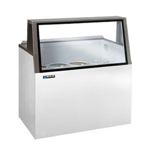 Master-Bilt DD-26L Ice Cream Low Glass Dipping/Display Cabinet with (4) Three Gallon Tub Display Capacity