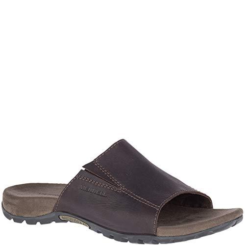 Merrell Men's SANDSPUR Slide Leather Slipper, Brown 11.0 M US