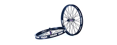 Colony Pintour BMX Complete Front Wheel Black/Rainbow