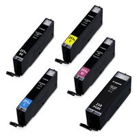 Amsahr CLI251XL Remanufactured Replacement canon Ink Cartridges for Select Printers/Faxes - Includes 2 Black and 3 Color Ink Cartridges Ink