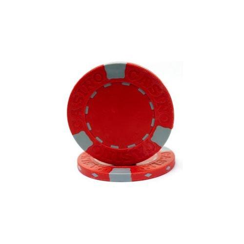 Trademark Poker Pro Clay Casino 100 Poker Chips, 13gm, Red