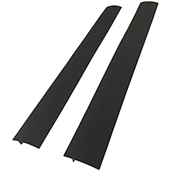 Capparis Kitchen Silicone Stove Counter Gap Cover, Easy Clean Heat Resistant Wide & Long Gap Filler, Seals Spills Between Counter, Stovetop, Oven, Washer & Dryer, Set of 2 (25 Inches, Black)