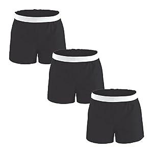 Authentic Soffe Shorts for Women - Black/Black/Black, Medium