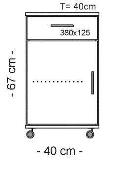 1801 Rollcontainer wei/ß Schubcontainer Weiss B/ürocontainer Weiss