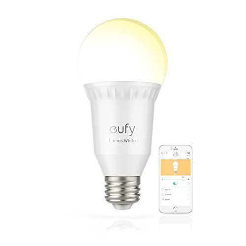 eufy Lumos Smart Bulb - White, Soft White (2700K), 9W, Works With Amazon Alexa and Google Assistant, No Hub Required, Wi-Fi, 60W Equivalent, Dimmable LED Bulb, A19, E26, 800 Lumens
