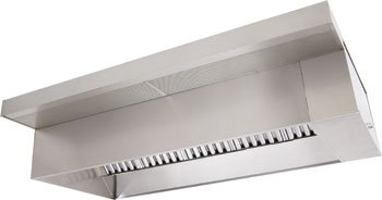 8' Commercial Kitchen Ventilaiton Restaurant Hood Package, which included wall mount box Canoy hood, roof top exhaust fan and supply fan (Restaurant Vent compare prices)