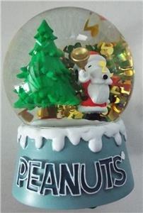 Adler Bells (NEW Kurt S. Adler PEANUTS SNOOPY Christmas Tree Holiday WATERGLOBE Plays JINGLE BELLS)