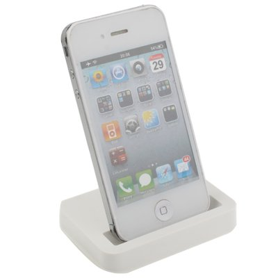 Original THESMARTGUARD iPhone 4 / 4S Dock mit 3.5mm Line Out in weiß