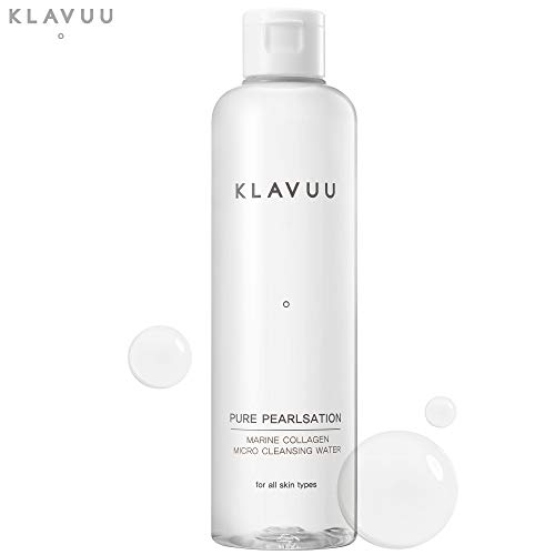 PURE PEARLSATION Marine Collagen Micro Cleansing Water Makeup Remover for Face, Lip, and Eyes. (250 ml / 8.45 fl.oz)