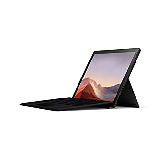 "Microsoft Surface Pro 7 – 12.3"" Touch-Screen - 10th Gen Intel Core i7 - 16GB Memory - 256GB SSD (Latest Model) – Matte Black with Black Type Cover (QWW-00001)"