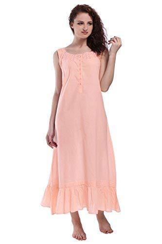 Miss Lavish Victorian Style Nightgown Sleeveless Long Sleepwear Women Cotton Plus Size Vintage Nightdress