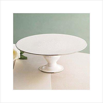 - Lenox Opal Innocence Footed Cake Plate