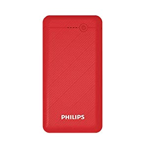 Philips DLP1710CR Fast Charging Power Bank 10000mAh with Lithium Polymer Battery Red (Dual USB Output Port, with Micro…