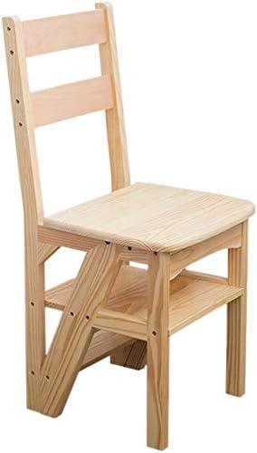 GOG Fácil y conveniente plegable taburete de paso, escaleras plegables de madera maciza Silla de casas de madera de seguridad ascendente Escalera plegable creativo escalera silla de tijera (37,5 × 36: Amazon.es: