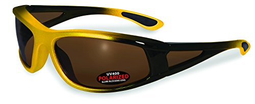 SSP Eyewear PUYALLUP YLW BRZ Mazama Puyallup Unisex Polarized Sunglasses with Bronze Lenses, Yellow (Protection Polarized Versus Uv)