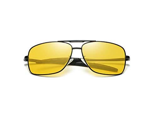 Deportivas Gaf Conducción Protección Liwenjun Negro Color De Gafas Conducción Gafas Gafas De Polarizadas Película De Antideslumbramiento Sol De Conducción Uv Amarilla De Marco Gafas La Gafas De Caja qZCq1Spr