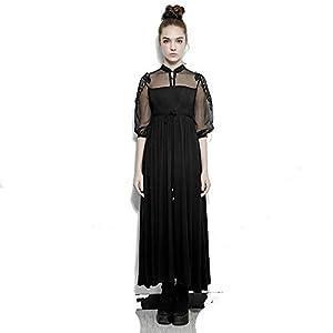 PUNK RAVE Steampunk Silk Cotton Long Dress Women Embroidery Victorian Royal Fairy Dress