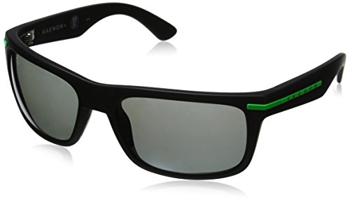 amp; Matte Kaenon Logo Black Sunglasses Men's Rectangular Burnet Polarized Green w0qO4