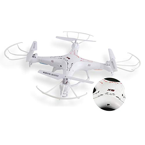 Syma X5 Explorers Drone 4 Channel 6 Axis Gyro 2.4GHz RC Quadcopter (No Camera), White
