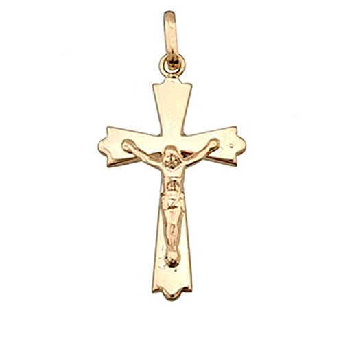 Croix pendentif 18k crucifix d'or sous forme Christ [4900]