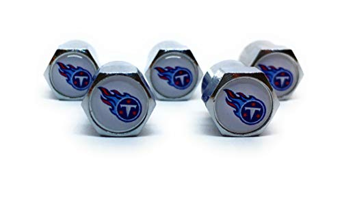 Buycleverly Tennessee Titans Metal Tire Valve Stem Caps Set/5 Pcs for Cars Sedan SUVs Compacts Luxury Pickups Truck ()