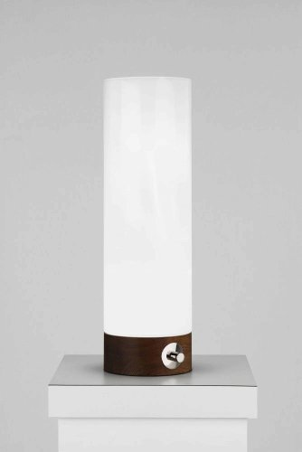 Robert Abbey WH738 Lamps with White Cased Glass Shades, Walnut Wood Base Finish ()