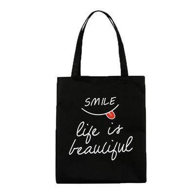 Wasab: Reusable Shopping Bags Women Cloth Canvas Bag Large Capacity Foldable Eco Grocery Tote Bag Casual Female Shopper Fabric Handbag