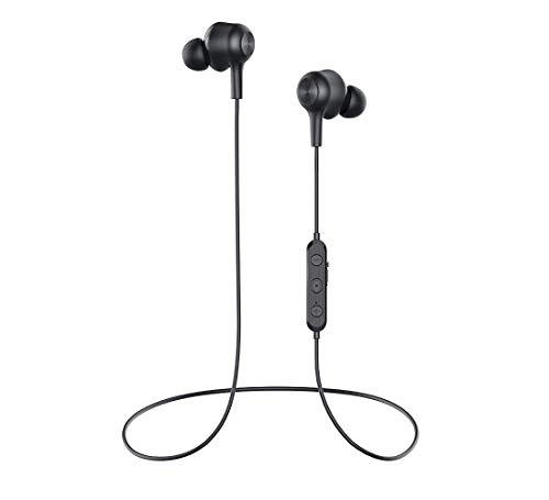 Wireless Earbuds Headphones Bluetooth v5.0 Earbuds Stereo BASS Wireless Earbuds,Magnetic Switch Bluetooth Earphones, IPX6 Water-Resistance & 8Hrs Playtime and Headphones with Mic for Running (Black) (Best Bluetooth Headphones With Mic For Running)