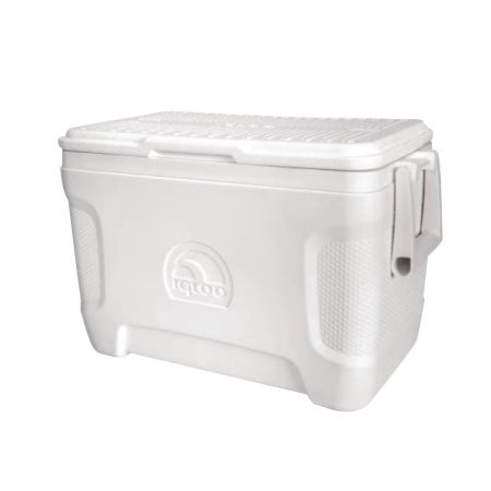 Cooler Igloo 00049644 White & Navy 36 Can Marine Ultra by Cooler