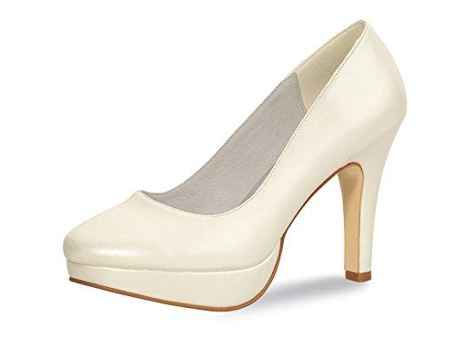 De sling En Joline isabella rainbow 8 Coloured Synthétique Shoes Pumps nbsp;cm Ecru Mariée Chaussures Elsa Paragraphe Cuir Modèle FqXPtW