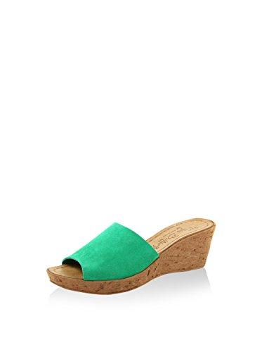 Miss Butterfly Damen Sandale Leder Grün
