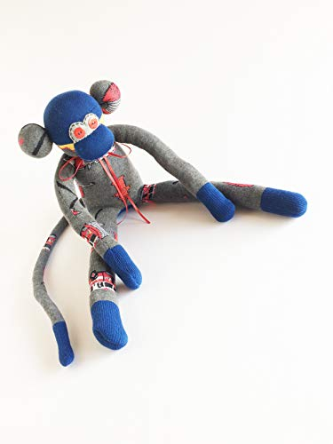Fireman Sock Monkey - Sock Monkey - Firefighter Plush - Firefighter Gift - Fire Engine Plush - Stuffed Fireman - Fire Department Gift - Fire