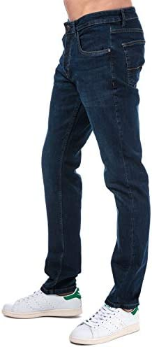 Weekend Offender Mens Tapered Fit Jeans in Denim- Button Fastening- Tapered Fit-