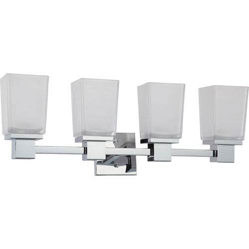 251 First Nicollet Polished Chrome Four-Light Vanity with Etched Glass ()