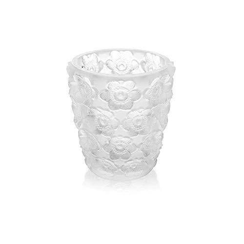 Lalique Crystal Anemones Votive Clear (Lalique Clear Crystal)