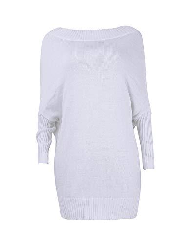 a2fb62f67ec3 A Club Di Lunga Le White Vestito Lana Donne Manica D inverno Tunica Mini  Vestiti Casual qPaEEwIxf