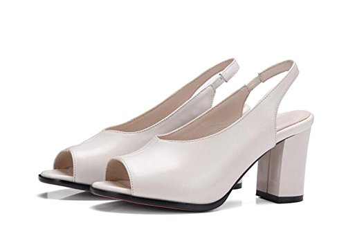 PBXP Casual Festa di lavoro in pelle Scarpin Peep-cinghie Sling indietro donne eleganti sandali Europa Nero Beige formato 34-39