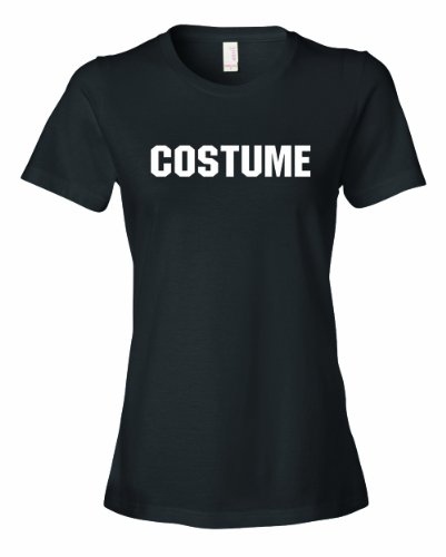 Ladies COSTUME. This Is My Generic Halloween Costume. T-Shirt-Black-Large (Common Halloween Costumes)