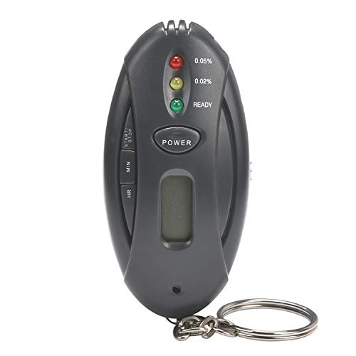 Breathalyzer,Portable Warning Digital Breath Alcohol Tester with Keychain for Drivers or Home use -