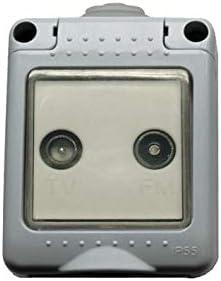 Bf bf-19 - Toma tv-fm 19 final estanca/o ip55 gris bolsa: Amazon.es: Bricolaje y herramientas