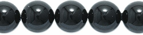 Swarovski 5810 Crystal Round Pearl Beads, 6mm, Mystic Black, 50-Pack 50 Swarovski Crystals Beads