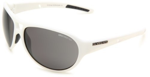 Bobster Criminal ECRI002AR Round Sunglasses,White Frame/Smoked Lens,One Size