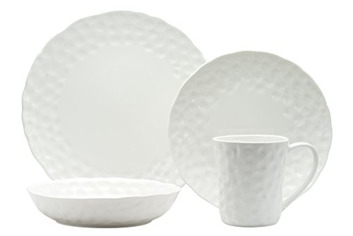 Red Vanilla RV750-905 5 Piece Marble Round Place Setting, White - (1) 10.25-inch-round dinner plate; (1) 8.25-inch-round salad plate; (1) 20-ounce soup bowl; (1) 20-ounce coffee cup; (1) 8.25-inch-round saucer Care instructions: Dishwasher, microwave and oven safe to 200 degrees Materials: Porcelain - kitchen-tabletop, kitchen-dining-room, dinnerware-sets - 31uEyeromxL -