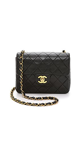 (What Goes Around Comes Around Women's Chanel Mini Flap Bag, Black, One Size)