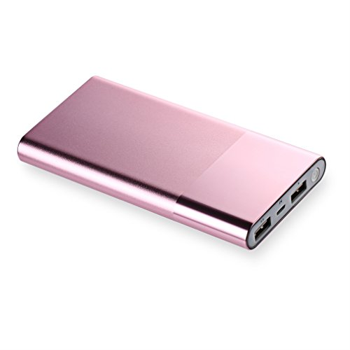 Power Bank, ACEHE Portable External Battery Mobile Charger (12000mAh, 2 USB Ports, 5V/4.8A Output, All Aluminum Alloy shell, Shiny Appearance, New 2017 Ultra-light, Ultra-Slim Design)